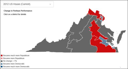 Current Virginia congressional boundaries