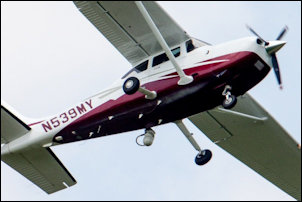 Photograph of FBI surveillance plane over Manassas. Source: Associated Press