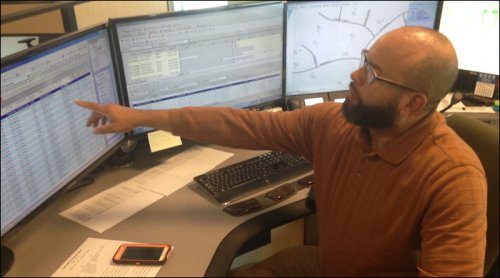 Lead analyst Wayne Williams coordinates efforts to get power restored, a particularly critical role during storm events.