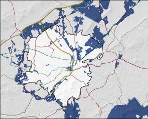 Map of Roanoke fiber optic coverage