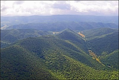 The proposed Atlantic Coast Pipeline would traverse this ridge in Highland County.