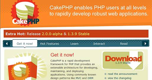 CakePHP is a PHP framework that provides an extensible architecture for developing, maintaining and deploying robust Web applications.