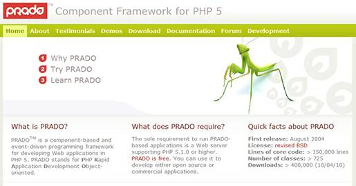 PRADO is a component-based and event-driven programming framework for developing Web applications in PHP5. PRADO stands for PHP Rapid Application Development Object-oriented.