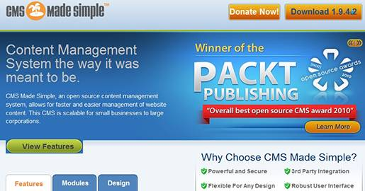 CMS Made Simple, is an open source content management system that allows for faster and easier management of a Website´s content. It is scalable for small businesses to large corporations.