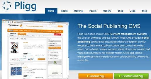 Pligg is an open source CMS. Pligg provides social publishing software that encourages visitors to register on your Website so that they can submit content and connect with other users. Pligg creates Websites where articles are created and voted on by members, not Website editors.