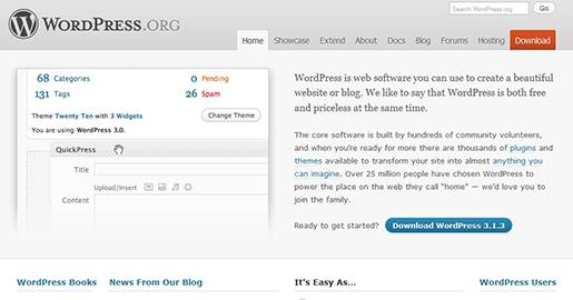 WordPress is Web software you can use to create Websites or blogs. The core software is built by hundreds of community volunteers, and there are thousands of plugins and themes available to transform your Website into almost anything you can imagine.