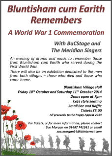 WWI Event Poster