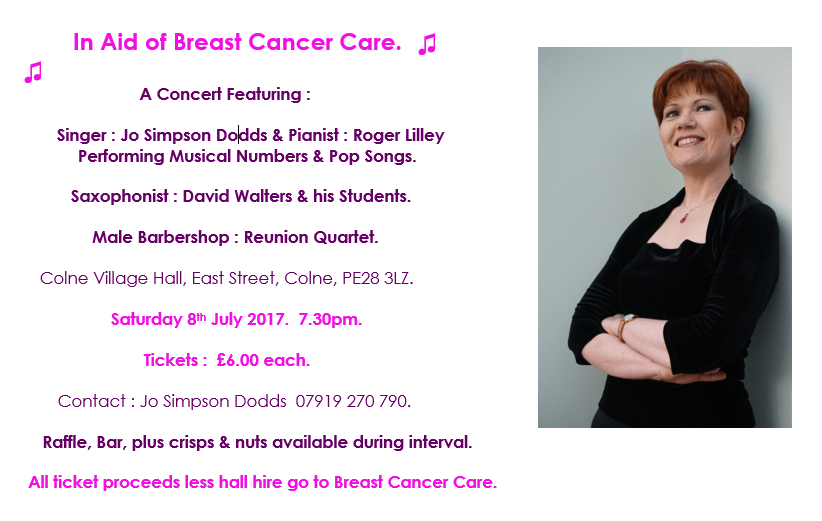 Breast Cancer Care Concert Flyer