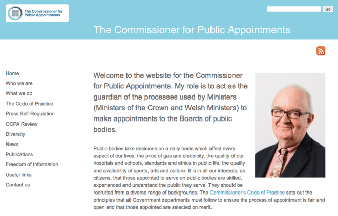 Commissioner for Public Appointments