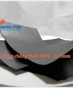 màng chống thấm HDPE 0.75 mm