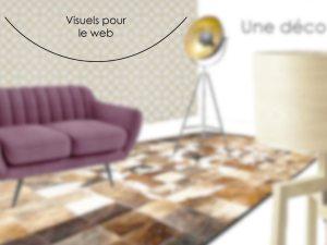 Bannière pour un site de commerce en ligne spécialisé dans le mobilier contemporain.