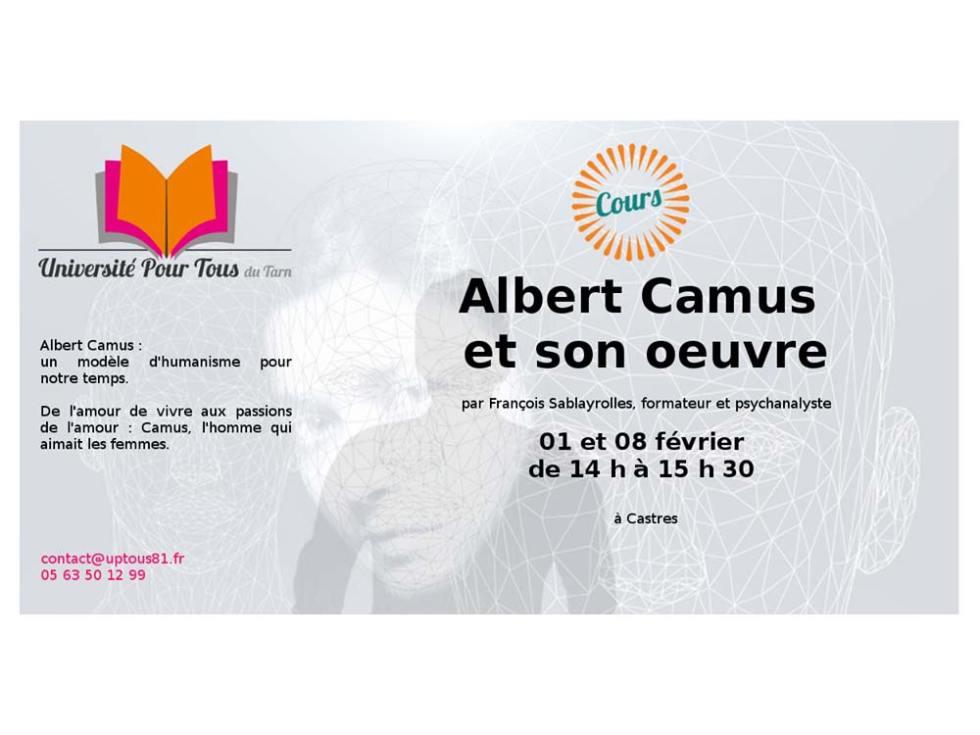 Montage photo pour annonce r le cours sur Albert Camus