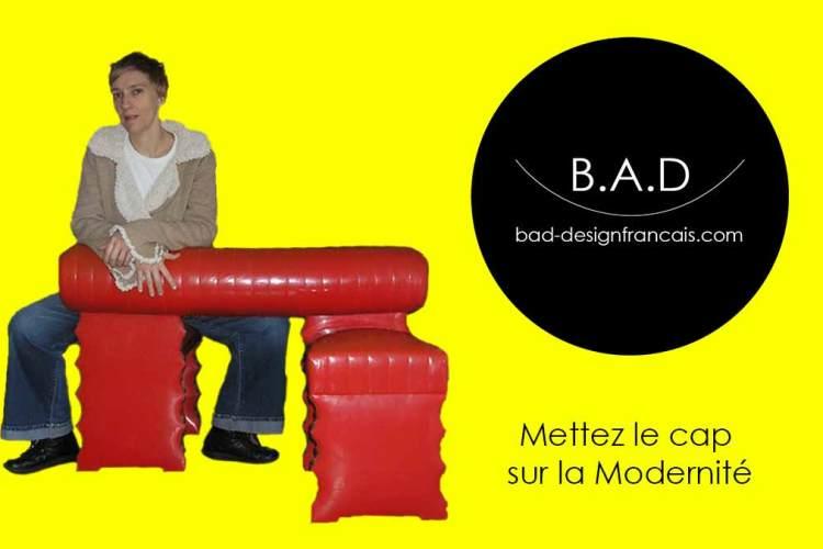 Confident moderne pour illustrer les cours sur l'histoire du design et de l'architecture de B.A.D design français