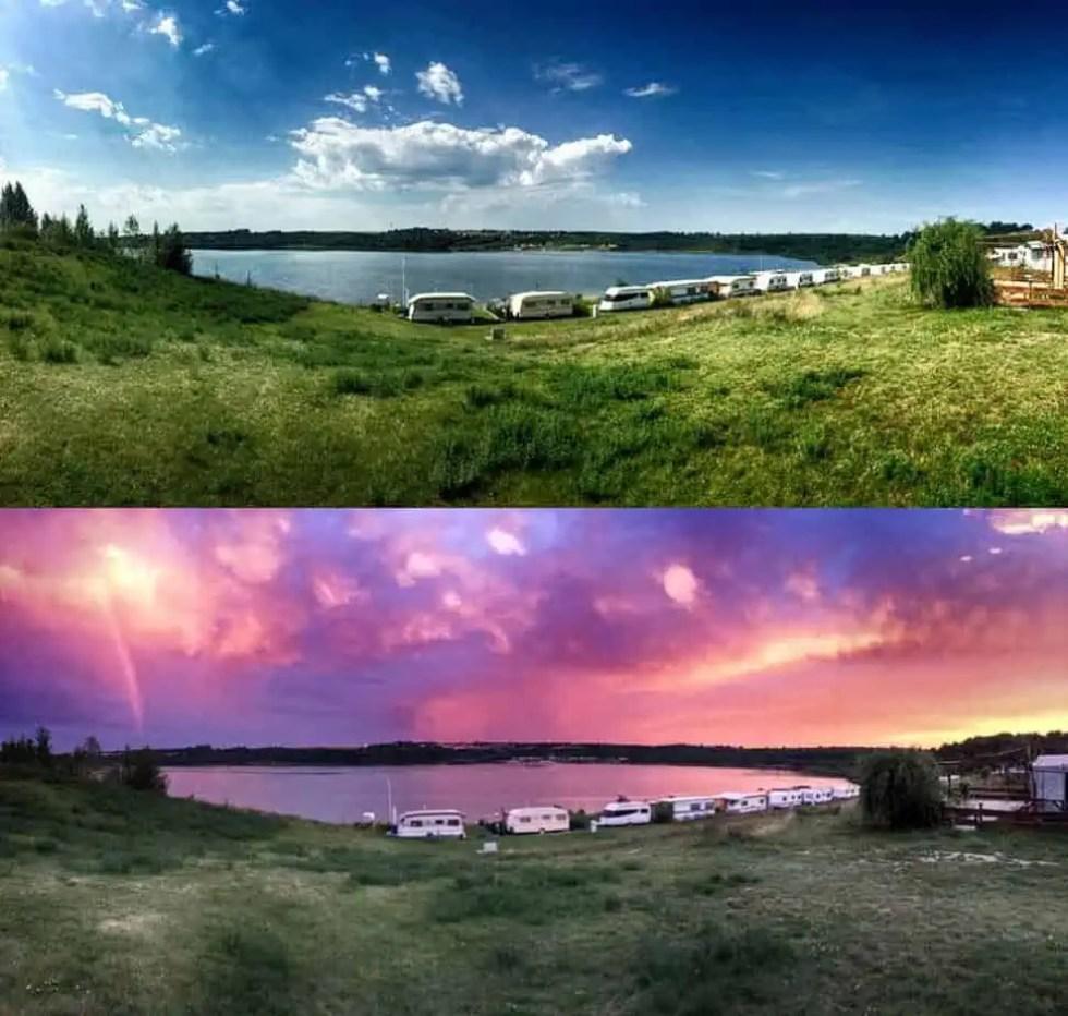 Geiseltalsee Tag und Nacht