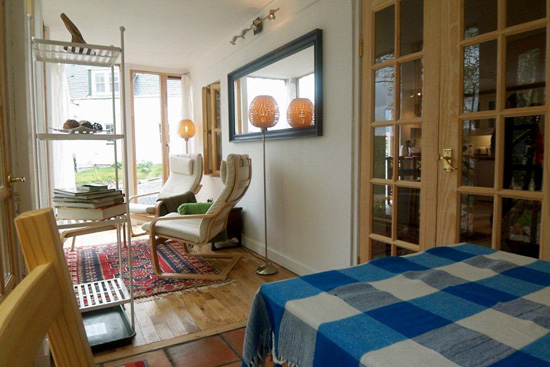 The Sunroom lounge in our Badachro self catering cottage