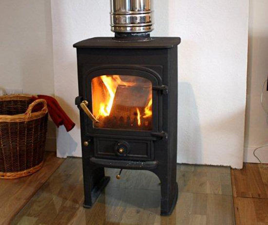 The wood stove in our holiday cottage