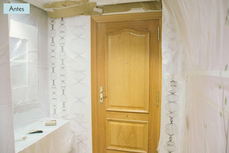 Antes pintar puerta