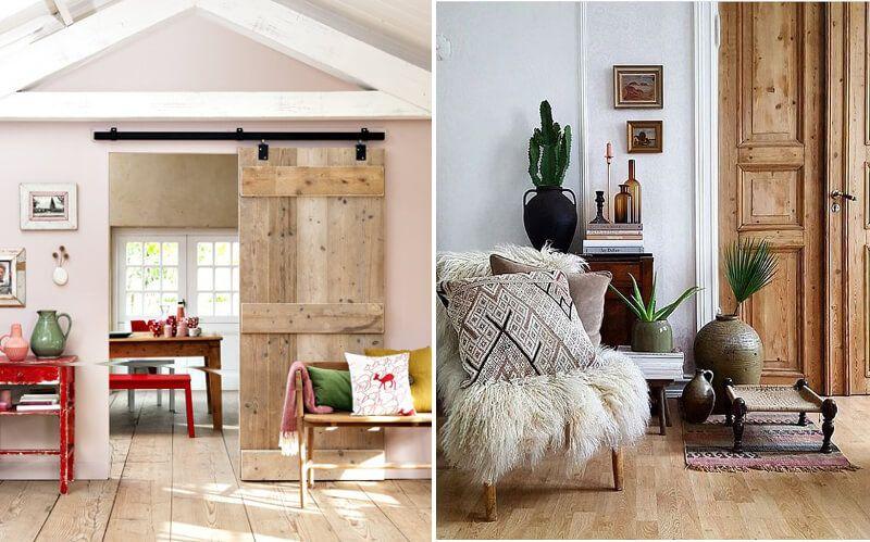 Puertas madera natural 2