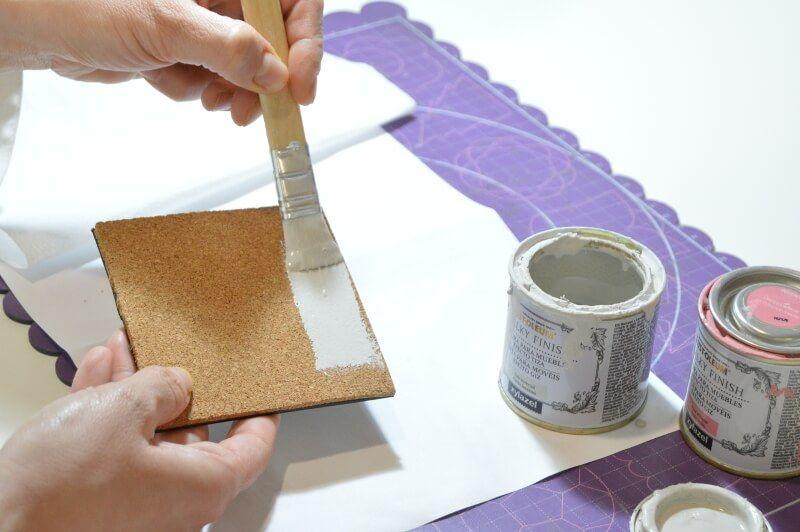 Pintando posavasos