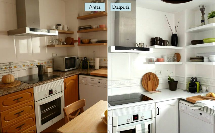 Antes y despues casa cocina 2