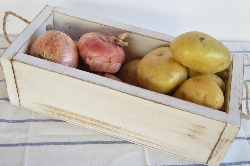 Reconvertir cajon rustico para patatas