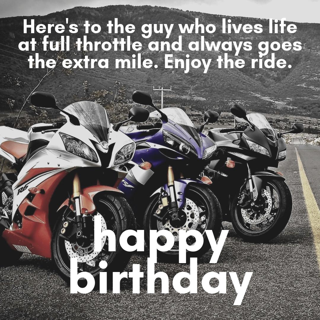 Happy Biker Meme Birthday Quotes