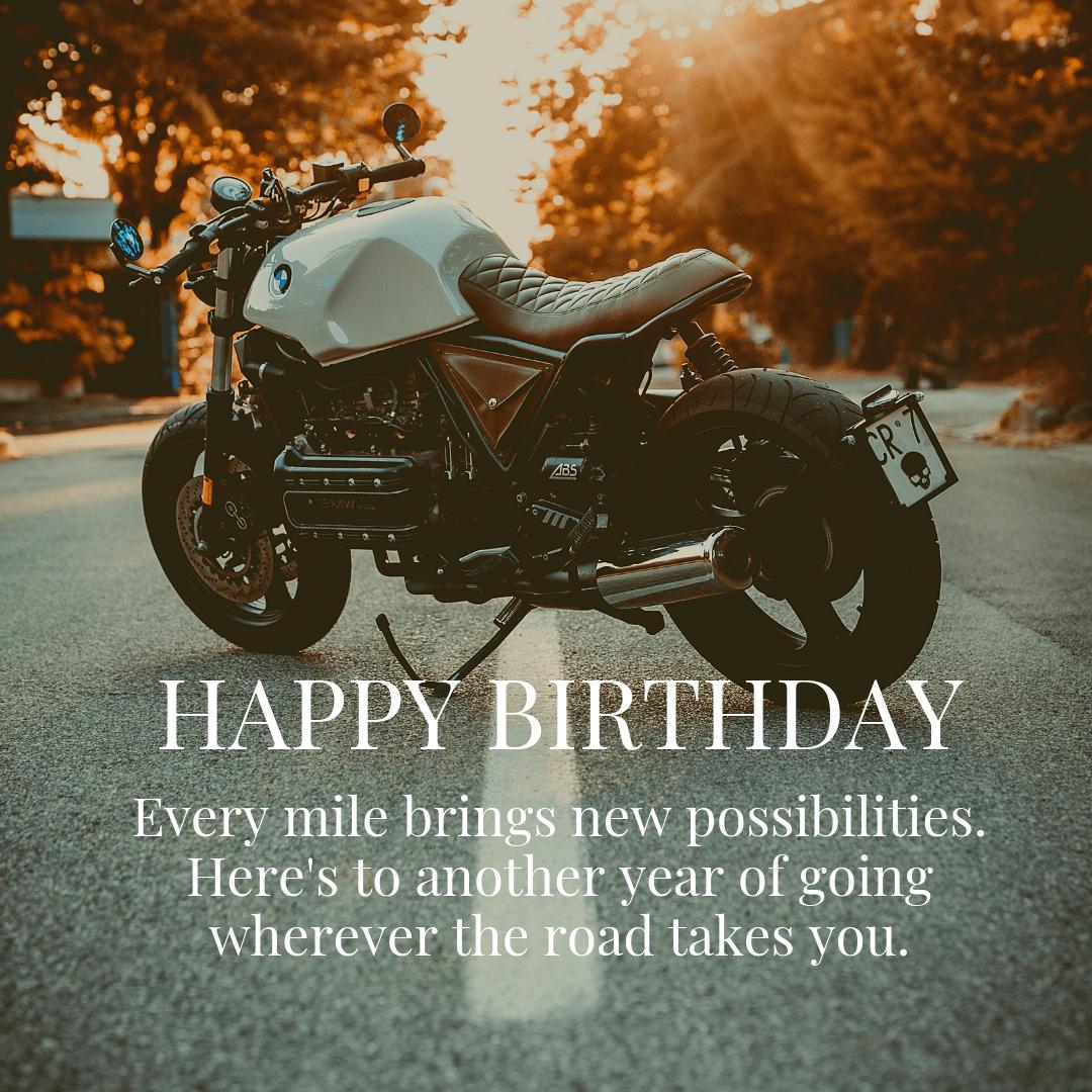 Motorcycle Bmw Happy Birthday