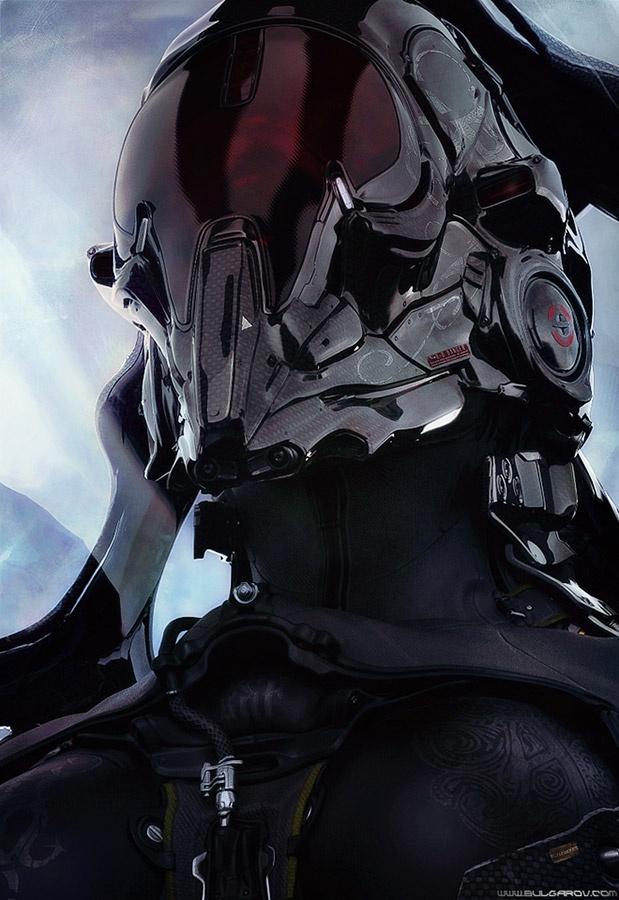 Helmet Skull Futuristic