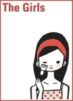 drawing of Korean girl doing makeup