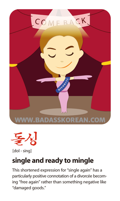 Sex Sells 돌싱 [dol-sing] single and ready to mingle; a divorcée
