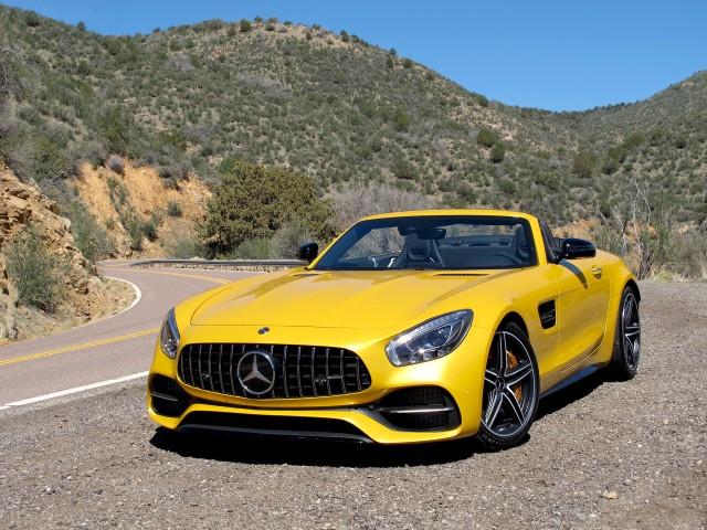 2018 Mercedes-AMG GT C Roadster, Phoenix, Arizona media drive, March, 2017