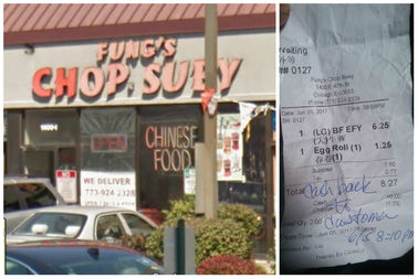 A Kenwood man claims he bit into a baby rat in his egg fu yung at Fung's Chop Suey in Kenwood. He said he was refunded the money he paid for the food.