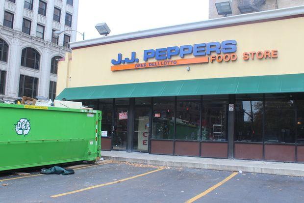 J.J. Peppers Food Store, 4800 N. Sheridan Road, has now closed.