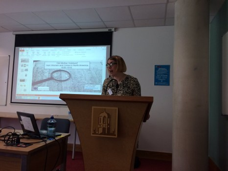 Dr Leanne Calvert presenting on 'Old Mother Hubbard'