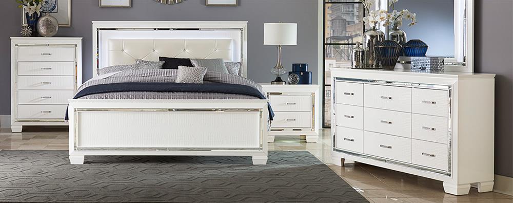 dark wood bedroom furniture stuns in