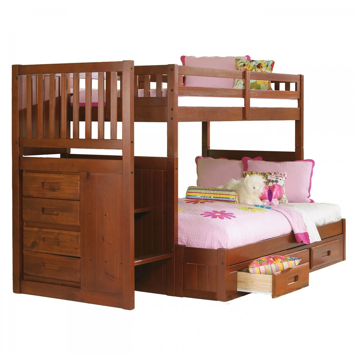 Buy Forrester Twin Full Staircase Bunk Bed Part 2814 1 Badcock More