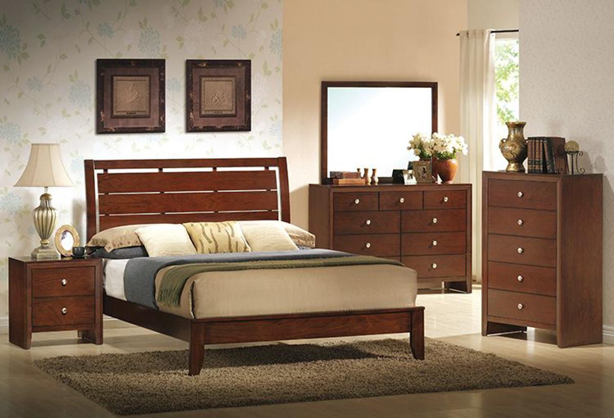Buy Summit Cherry 5 Pc Queen Bedroom Part Badcock More