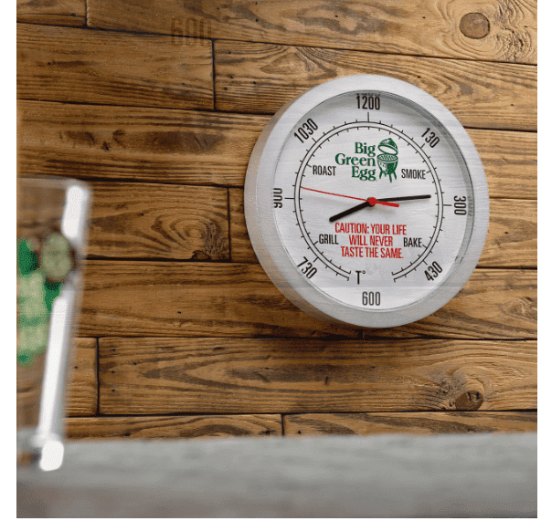 BIG GREEN EGG WALL CLOCK | Badé - Outdoor Living on Bade Outdoor Living  id=62181