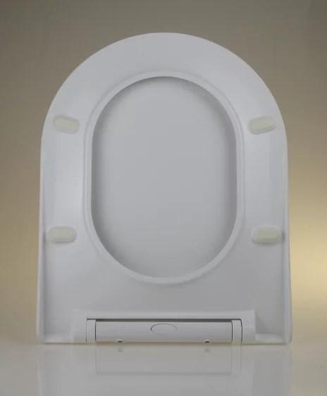 WC Sitz mit Absenkautomatik und D-Form Slim / Soft-Close - WC Sitz Shop