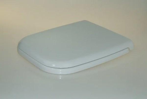 WC Sitz mit Absenkautomatik und Eckig Form / Soft-Close für Renova Nr.1 Plan - WC Sitz Shop