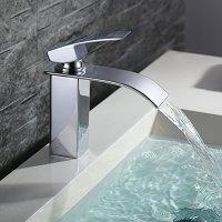 Homelody Bad Waschbecken Armatur Chrom Wasserfall ...