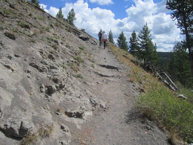 observation point trail - old faithful