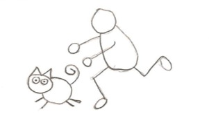 chasing cat