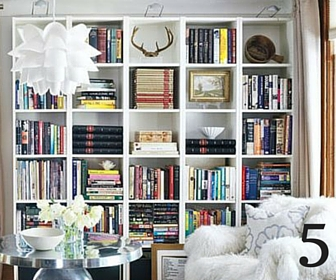 layers in a bookcase