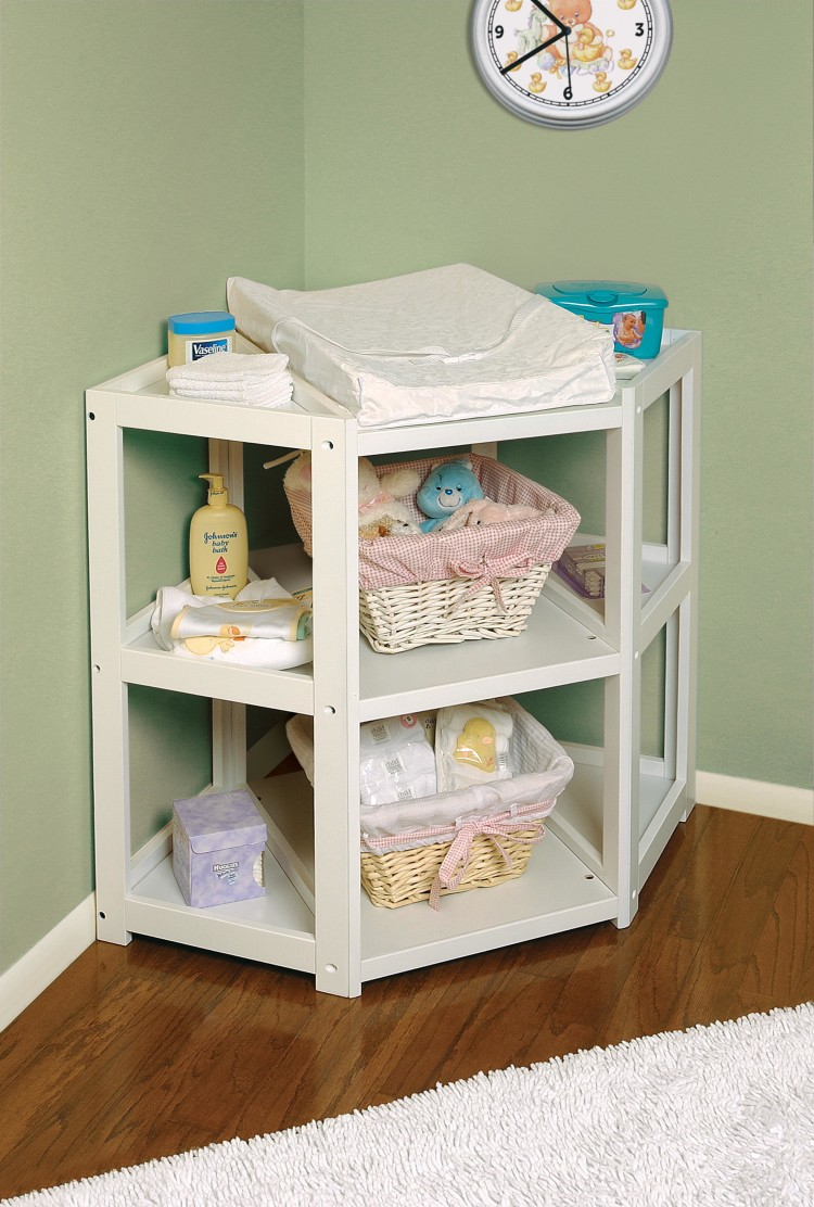 diaper corner baby changing table white