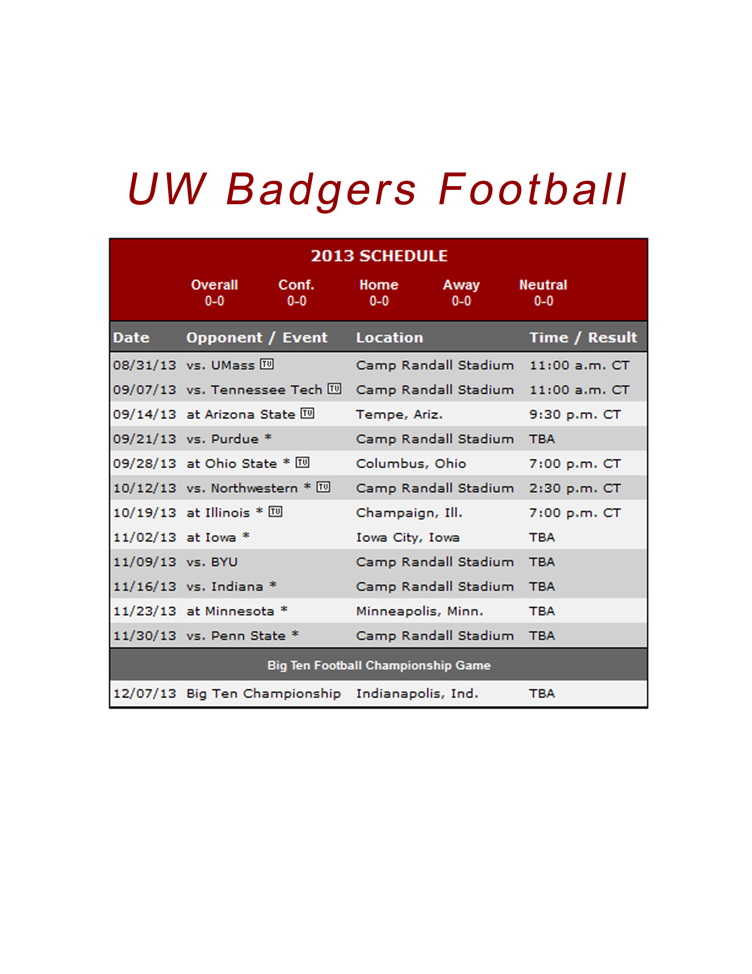 badger football schedule 2018 printable - kitchen and living space