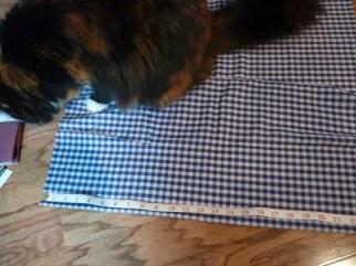 Measure out the same width for a 4 in. strip of fabric or burlap facing.
