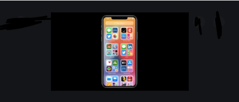 Apple's App Library is similar to an app drawer, but with folders.