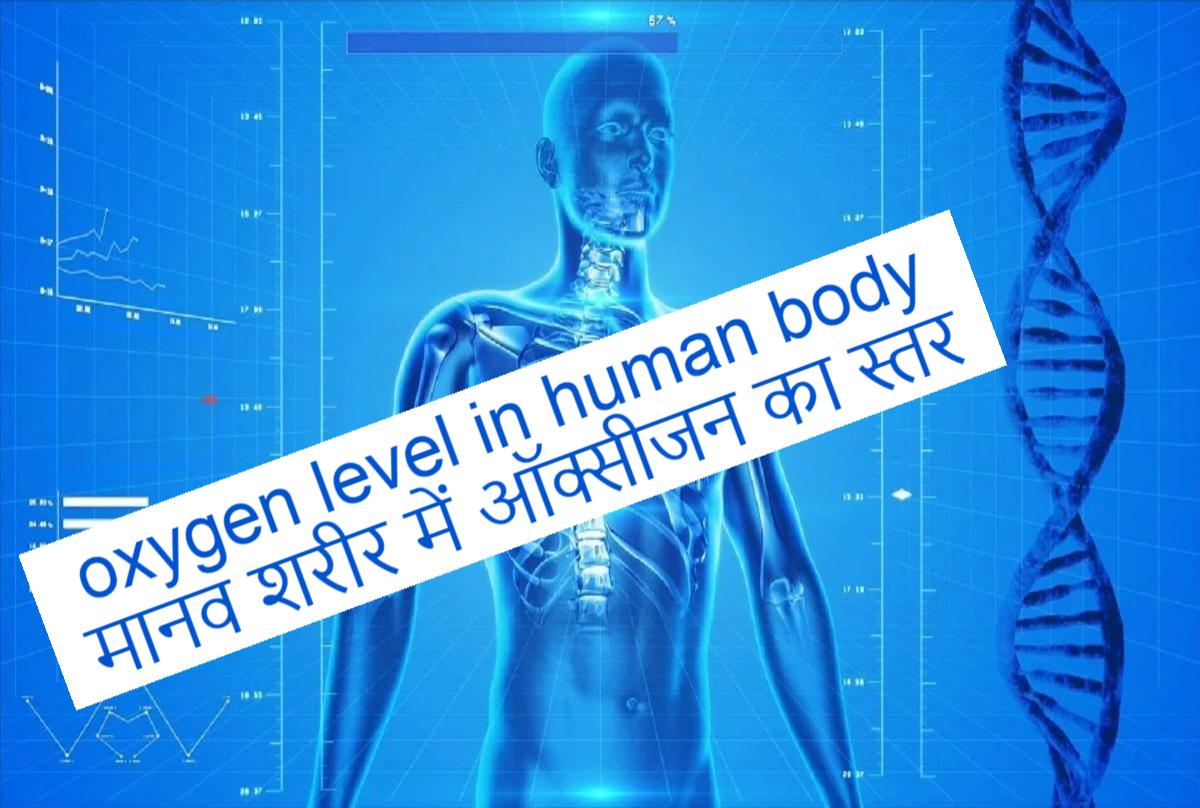 oxygen level in human body