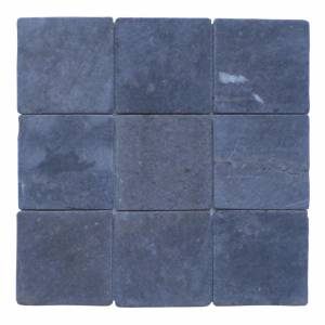 Mozaïek Parquet 10X10 Gray Blue Tumble Marmer 30X30 cm Stabigo